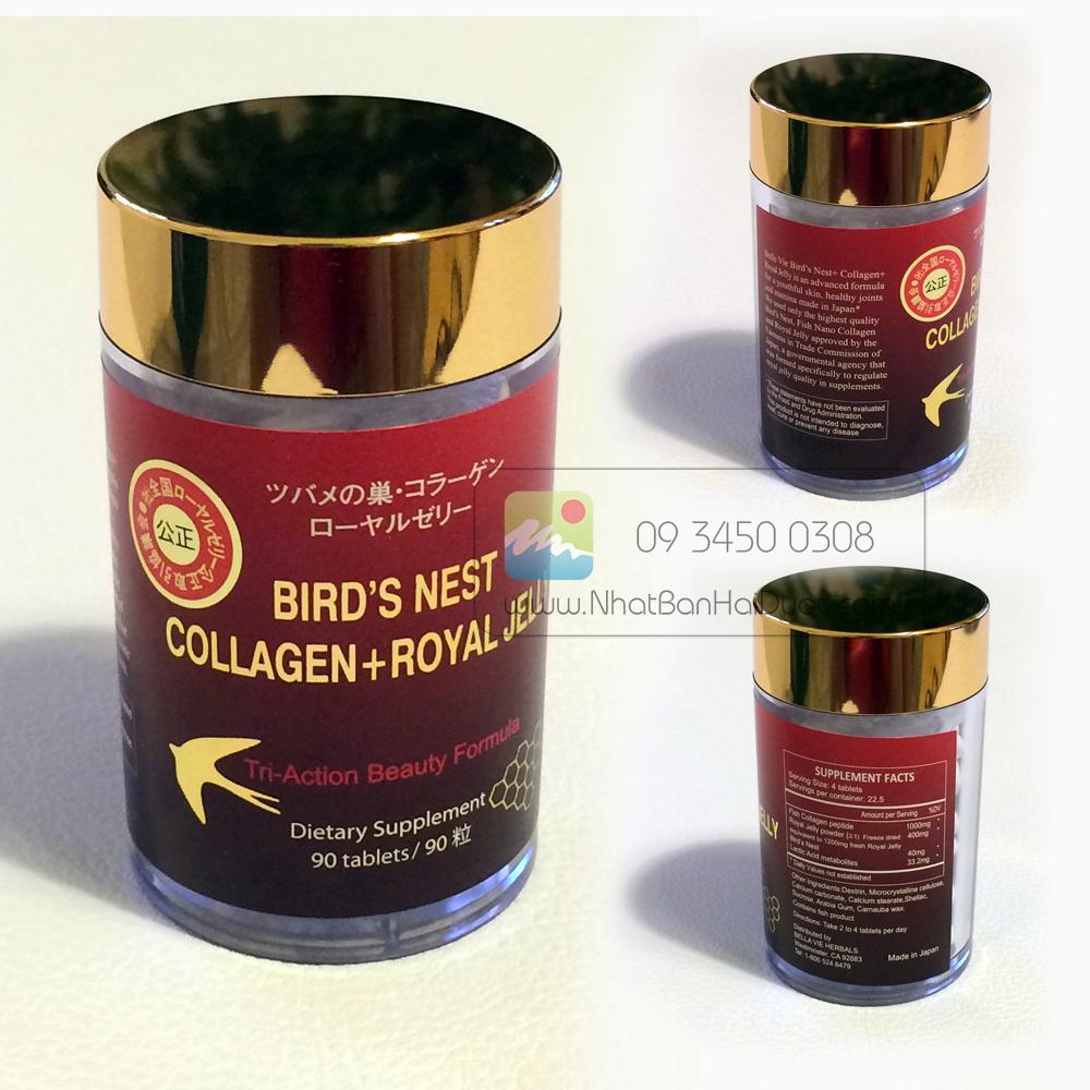 Viên Uống Tổ yến, Collagen, Sữa Ong Chúa Nhật Bản