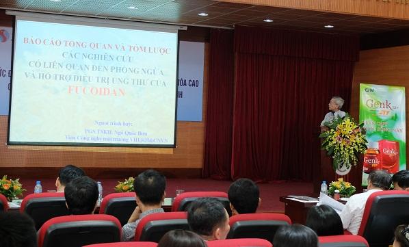 PGS.TSKH Ngô Quốc Bưu, Viện Công nghệ Môi trường, Viện Hàn lâm khoa học và Công nghệ Việt Nam tại buổi hội thảo